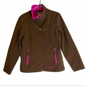 Free Country Jacket Brown With Pink Lining EUC